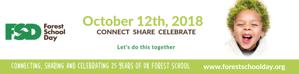 Forest school day banner with date on