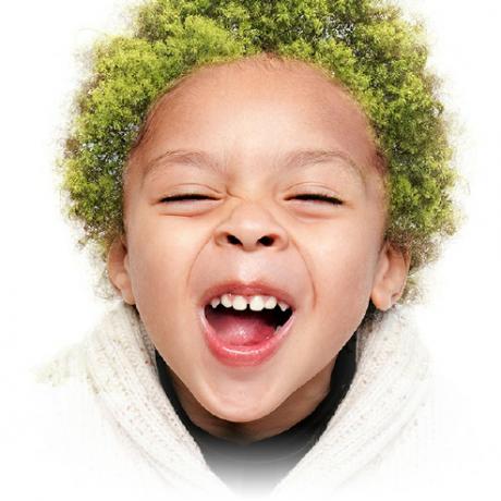 Forest School Boy Smiles